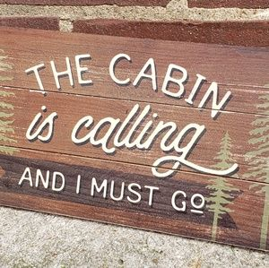 """✅CABIN Sign 12""""x 6"""" for sale"""